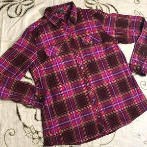 Plaid Eddie Bauer Button Up Shirt